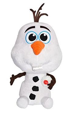 "Disney Exclusive. Press Button Plush Olaf ""Baby"" Snowman Say"