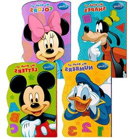 "Disney Mickey Mouse ""My First Books"" -- Set of 4 Shaped Disn"