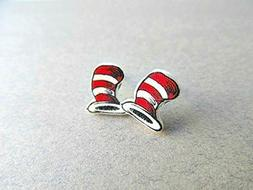 Dr. Seuss Hat Stud Earrings MATTE Finish, Dr. Seuss Birthday