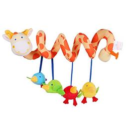 Giraffe Baby Crib Toy from Wrap Around Crib Rail Toy or Stro