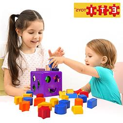 ETI Toys | 19 Piece Unique Educational Sorting Matching Toy