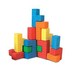 Edushape Easy-grip Soft Foam Sensory Puzzle Blocks, 18 Piece