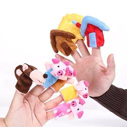 "Foto4easy ""The Three Little Pigs"" Animal Finger Puppet Toy E"
