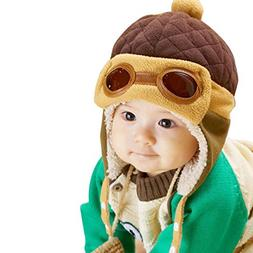 Fullkang Baby Boys Earflap Hat, Winter Warm Pilot Aviator Cr