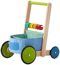 HABA Color Fun Walker Wagon - Push Toy with Wood Frame, Fabr