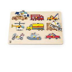 Hape Emergency Vehicles Toddler Wooden Peg Puzzle