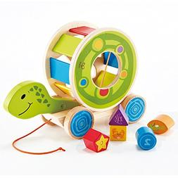 Hape Wooden Shape Sorter Pull Toy - Hape Educational Toys Wo