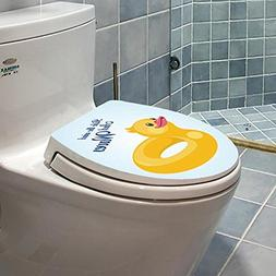 Homefind  3D Yellow Duck Toilet Seat Stickers Removable Wate