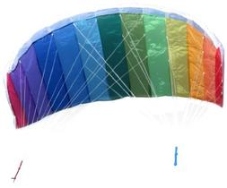 In the Breeze Rainbow 62 Inch Sport Kite - Dual Line Stunt P