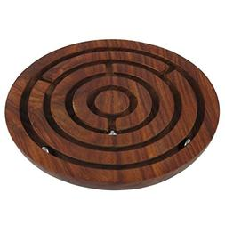 "Indian Glance - ""6 Inch ""Handcrafted Wooden Labyrinth Board"