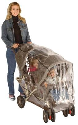 J is for Jeep Double Stroller Rain Cover, Tandem Stroller Ra