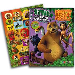 Jungle Book Coloring Book with Jungle Animals Stickers