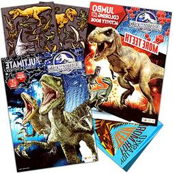 Jurassic World Coloring Book Set with Stickers and Posters