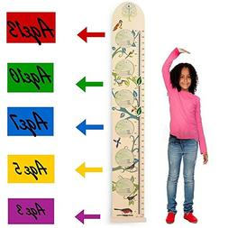Kids Wall Wooden Growth Height Chart- Hanging Ruler for Chil
