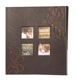 Kleer-Vu Photo Embroidery Leather Collection, Holds 500 4x6