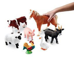 Learning Resources Jumbo Farm Animals Set, 7 Pieces