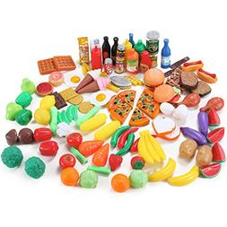 Liberty Imports 120 Piece Deluxe Pretend Play Food Assortmen
