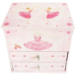 Lily & Ally / Flower Ballerina Musical Jewelry Box, with Mel
