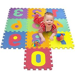 Matney Foam Mat of Number Puzzle Pieces– Great for Kids to
