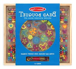 Melissa & Doug Bead Bouquet Deluxe Wooden Bead Set With 220+