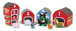 Melissa & Doug Nesting and Sorting Barns and Animals With 6