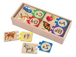 Melissa & Doug Self-Correcting Alphabet Wooden Puzzles With