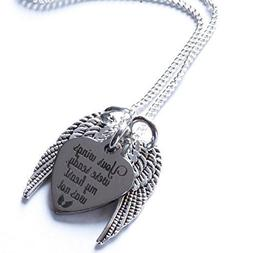 Memorial Necklace, Your Wings Were Ready, My Heart Was Not