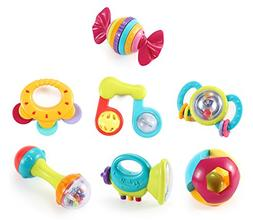 Liberty Imports Deluxe 7 Piece Baby Rattles Teether & Shaker