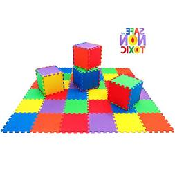 NON-TOXIC Extra-Thick 36 Piece Children Play & Exercise Mat