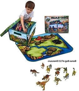 Neat-Oh! ZipBin Dinosaur Collector Toy Box & Playset with 2