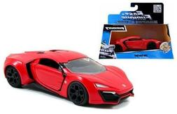 New 1:32 W/B Fast & Furious 7 Red Lykan Hypersport Diecast M
