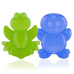 Nuby 2-Pack Kool Soother Water-Filled Teethers, Styles May V
