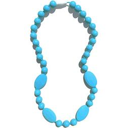 Nummy Beads - Jaden Silicone Teething Necklace - Robin Egg