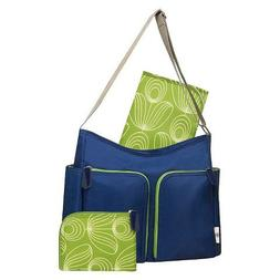 Orla Kiely Two Pocket Diaper Bag - Blue/green