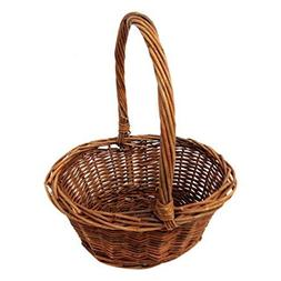 Royal Imports Oval Shaped -Small- Willow Handwoven Easter Ba