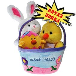 Plush Easter Basket For Baby - Toddler & Kids Of All Ages. S