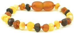 Raw Amber Teething Bracelet / Anklet for Baby - 5.5 Inches