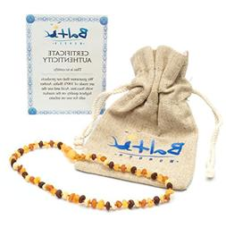Raw Baltic Amber Teething Necklaces For Babies  - Anti Flamm