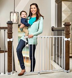 Regalo 2-In-1 Stairway and Hallway Wall Mounted Baby Gate, I