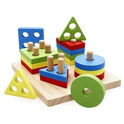rolimate Wooden Educational Shape Color Recognition Geometri
