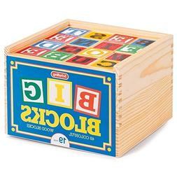 Schylling ABC Big Blocks - 48 Piece Wood Alphabet Blocks
