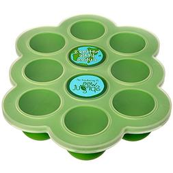 Silicone Baby Food Freezer Tray with Clip-on Lid by WeeSprou