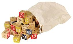 Ryans Room Small World Toys Wooden Toys - Classic Bag O' A-B