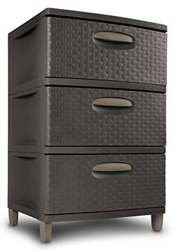 STERILITE 01986P01 3 Weave Drawer Unit, Espresso with Driftw