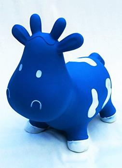 THE BOUNCING COW  - Inflatable Bouncing Toy Cow with Pump fo