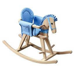 Teamson Kids - Safari Wooden Rocking Horse with Removeable S