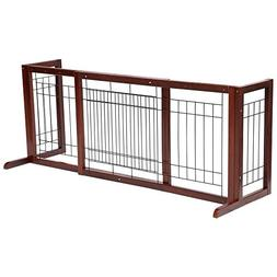 Topeakmart Adjustable Indoor Pet Fence Gate,Free Standing Do