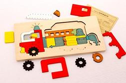 U.D. Let's Make - Preschool Puzzle Game - Fire Truck Game an