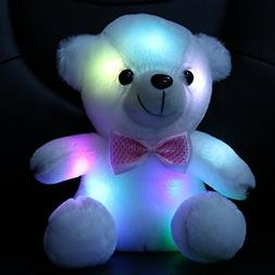 WEWILL Glow Teddy Bear with Luminous LED Colorful Night Ligh