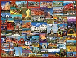 White Mountain Puzzles Best Places in America - 1000 Piece J